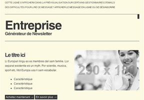 Modele newsletter Abonnement