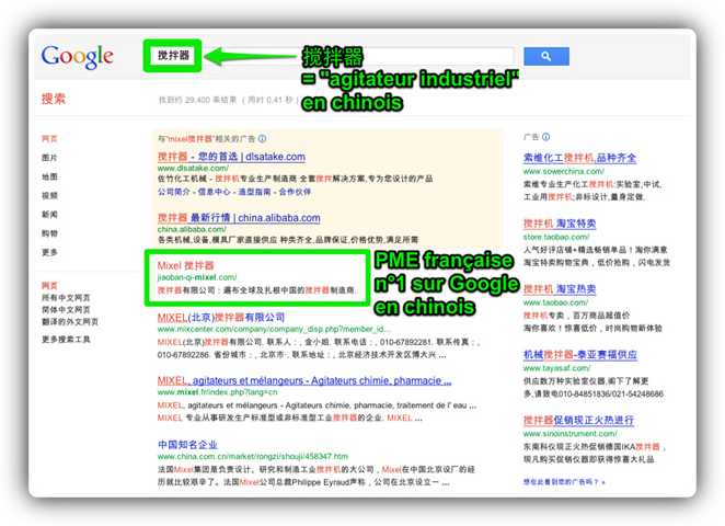 Traduction et optimisation en chinois d'un site pro